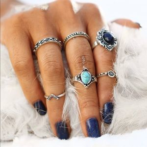 Jewelry - ✨Boho 6pc Silver Ring Set✨